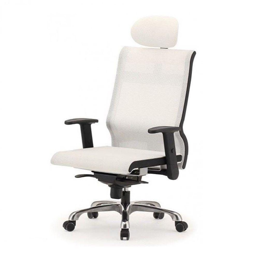 메쉬 회전 의자 DN-투톤-흰색 (대) 알루미늄발 학생
