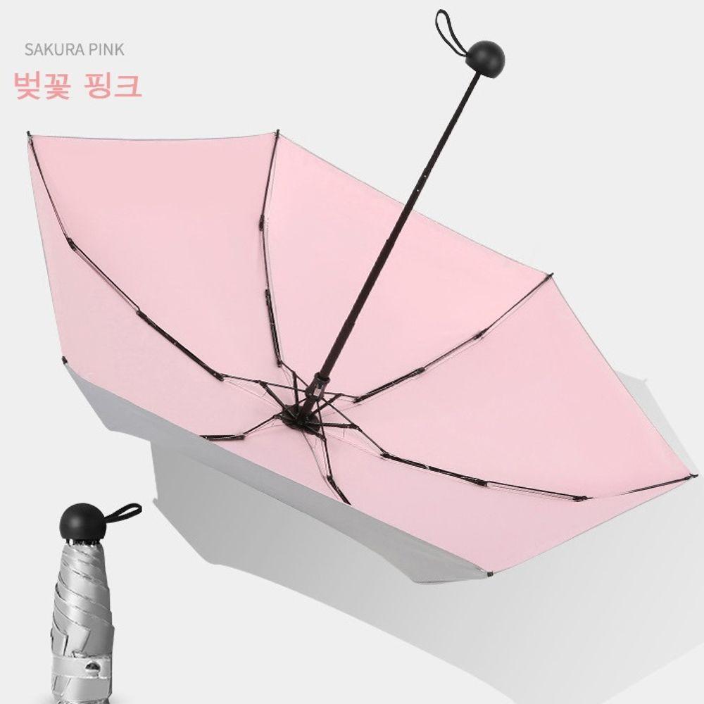 5단우양산 우산 겸용 경량 미니자외선차단 벚꽃핑크