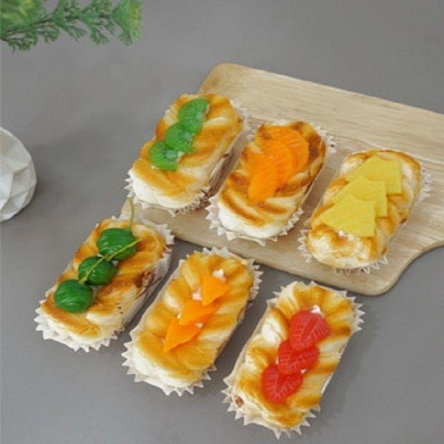 베이커리  패스츄리 과일빵 냉장고 자석 6p 빵소품
