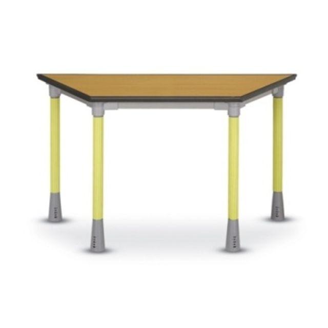 학원 공부방 책상 다용도 테이블 마름모형 높이조절