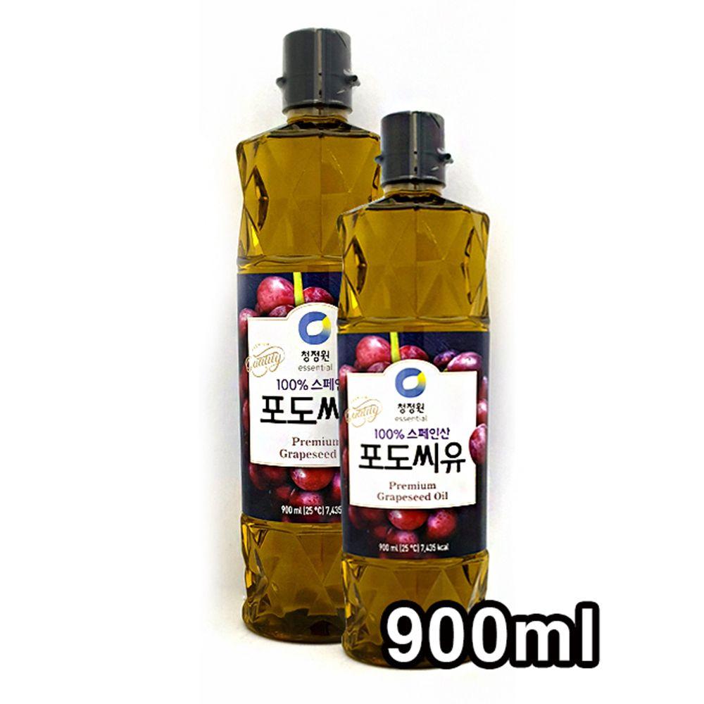 청정원 포도씨앗 튀김 부침 샐러드용 포도씨유 600ml