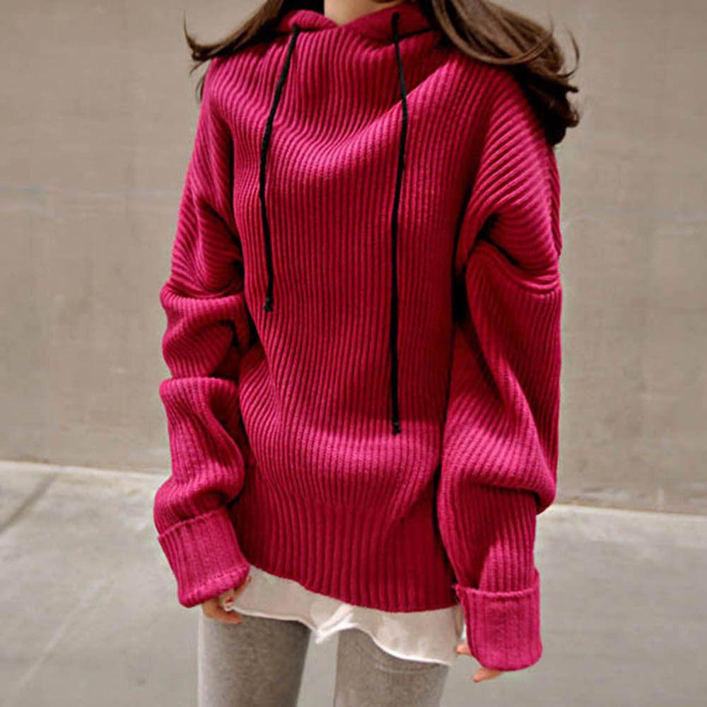 여자 루즈핏 골지 가을 겨울 패션 귀여운 니트티