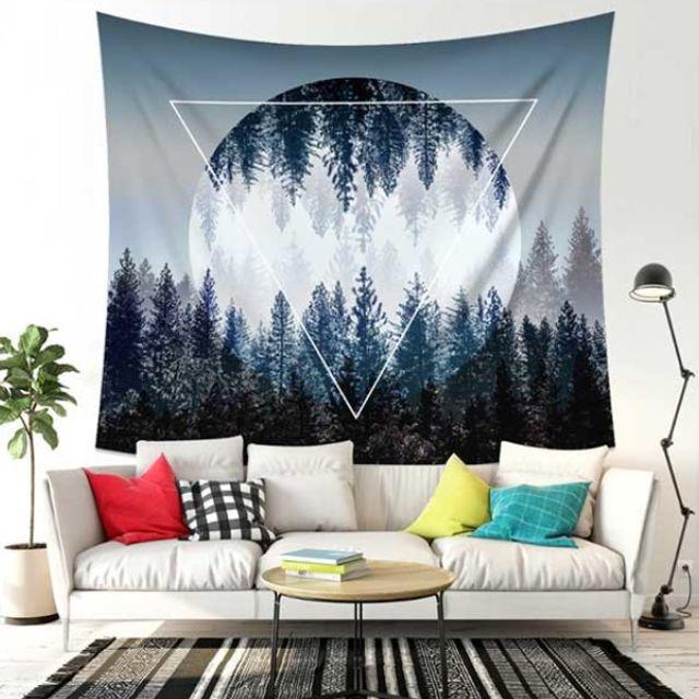 역삼각 달숲 패브릭 월 데코 가림막 포스터 (대)