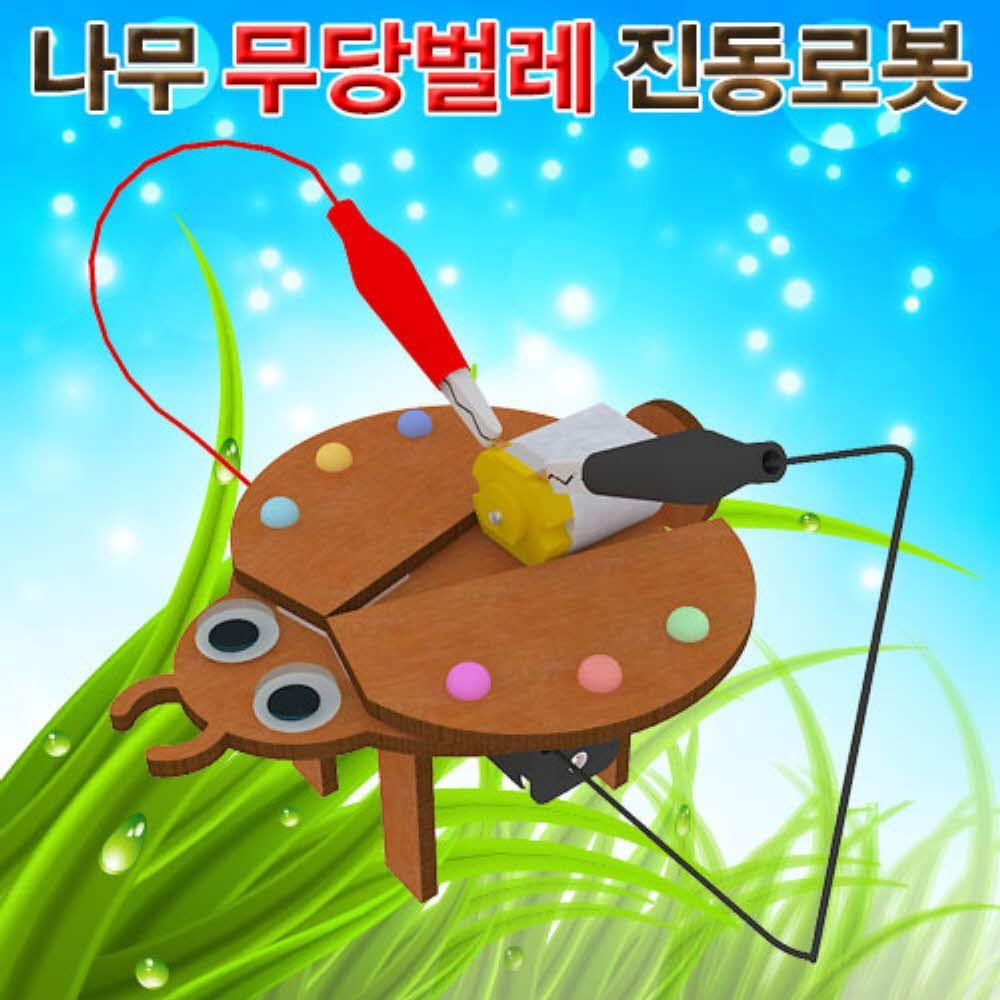 과학 키트 나무 무당 벌레 진동 로봇 실험 상자 교구