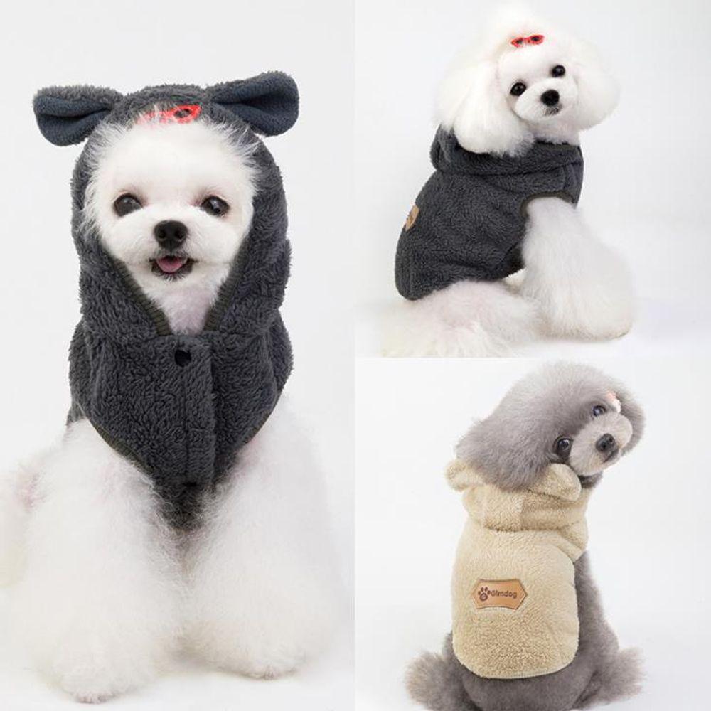 키밍 강아지 후드티 반려동물 옷 겨울 코트 털티셔츠