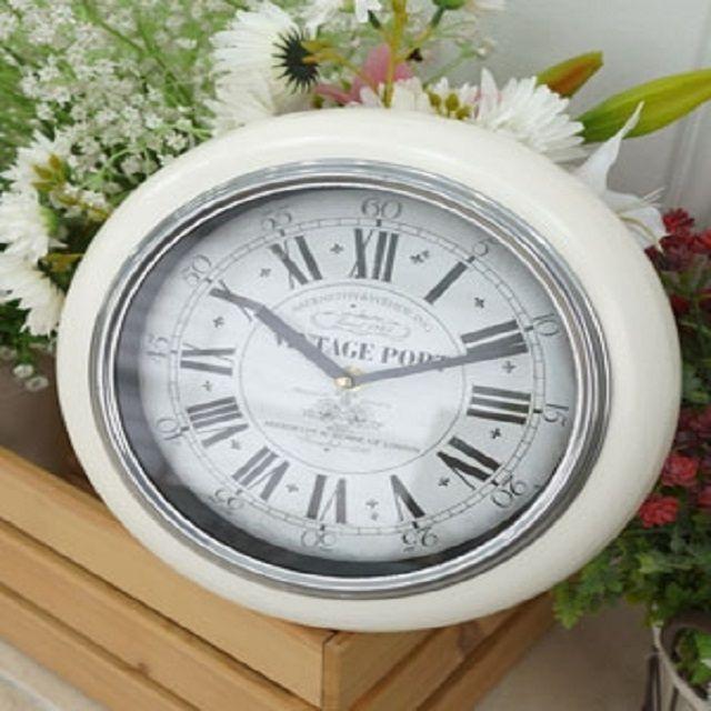 빈티지 벽시계 시계 인테리어 로마숫자 철제 벽장식