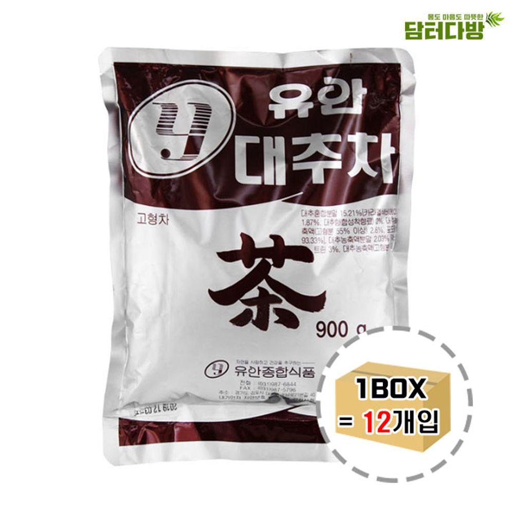 유안 자판기용 대추차 900g 1BOX (12개입) / 분말차