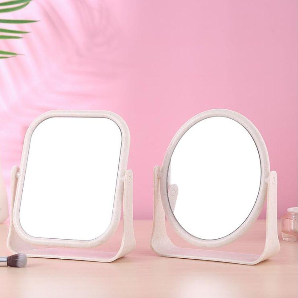키밍 양면 화장거울 360도 회전 탁상 스탠드 패션