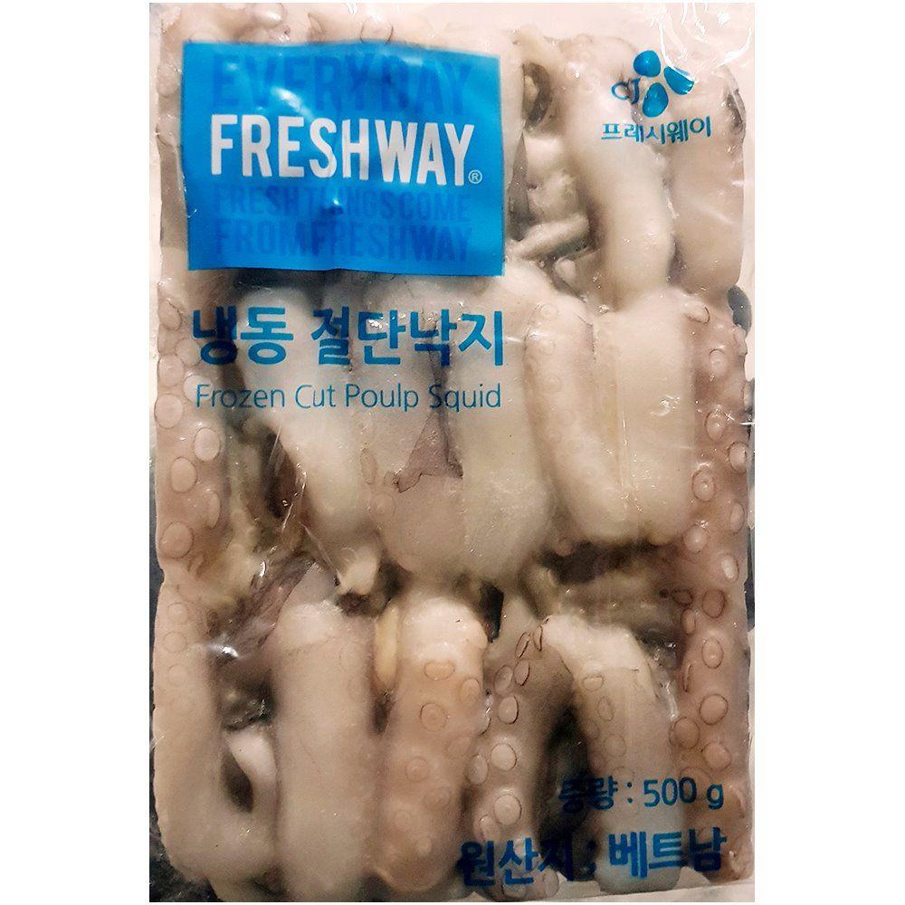 업소용 식자재 프레시원 냉동 절단낙지 500g M X4