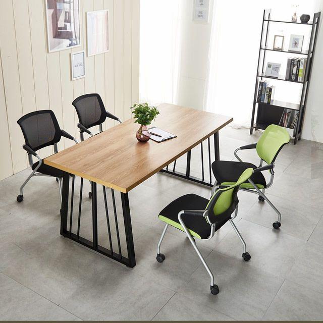 포그니체어 테이블세트 가온 1500 회의용책상 의자4개