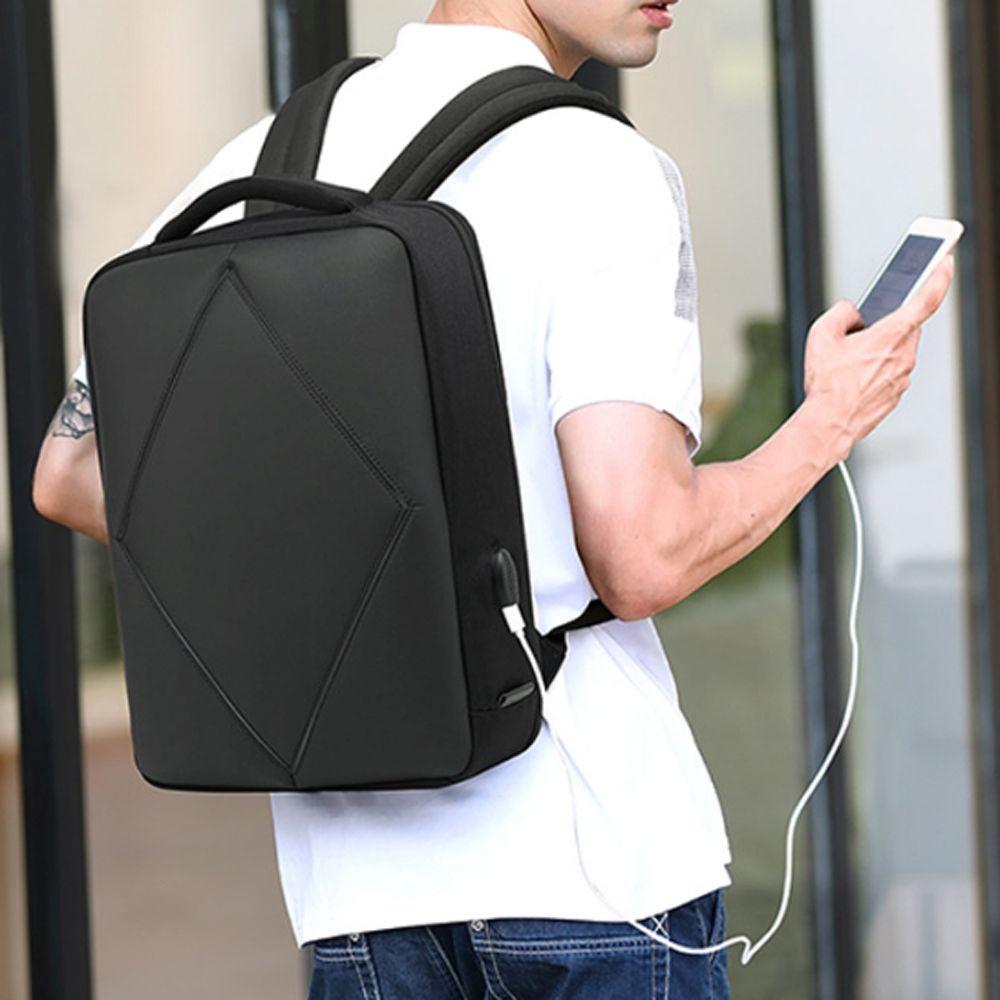 깔끔 베이직 캐주얼 백팩 노트북 USB 남성가방