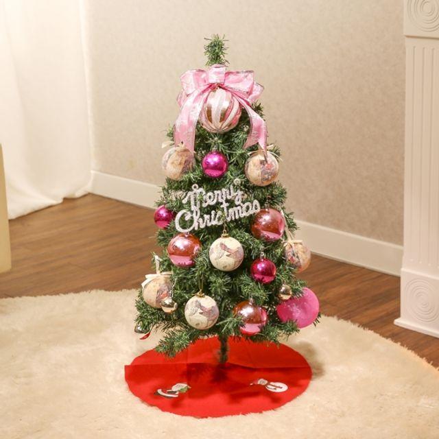 크리스마스 90cm 메리 프린세스 스카치트리 풀세트 성탄절 장식 인테리어 트리 5408AF