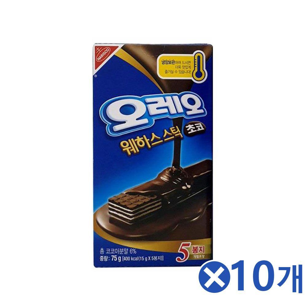 오레오 웨하스스틱 5개입 맛선택x10개 탕비실간식