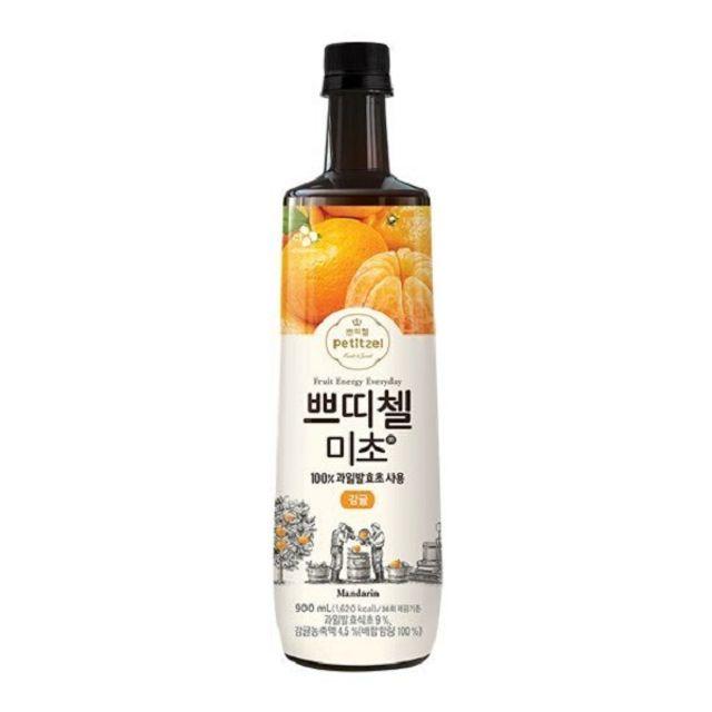 쁘띠첼 미초 감귤 900ml/홍초/흑초/식초음료