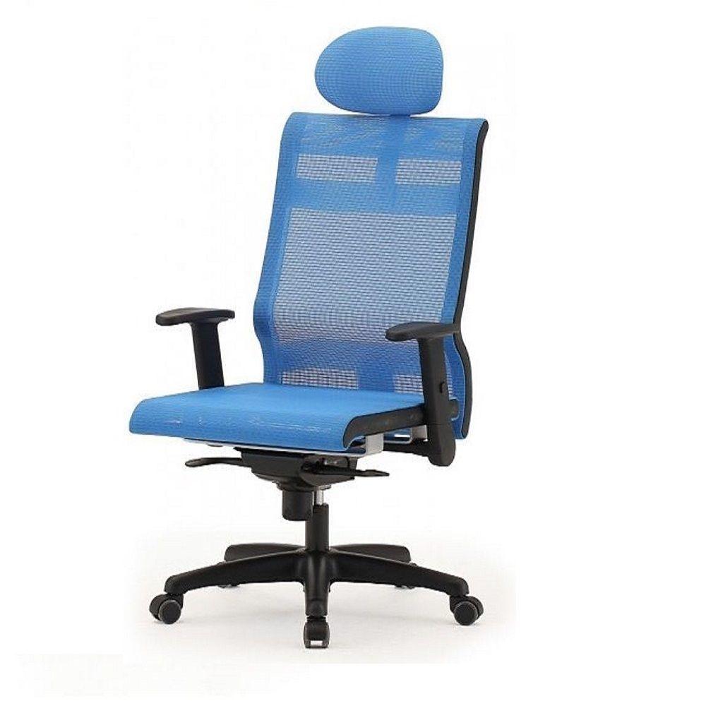 메쉬 회전 의자 DN-파랑 (대) 사출발 사무 학생 게임