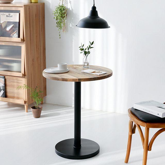 마켓비 REET 원목테이블 원형테이블 망고나무 라운드