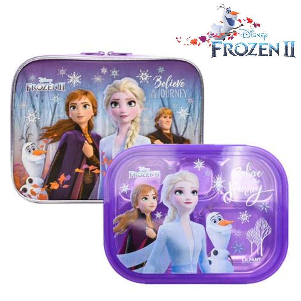 릴팡 겨울왕국2 예쁜가방 스텐 식판세트