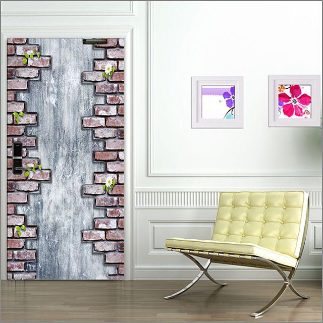 회색벽 (물시트지) 현관문시트지 물로붙이는현관문 초간편시공