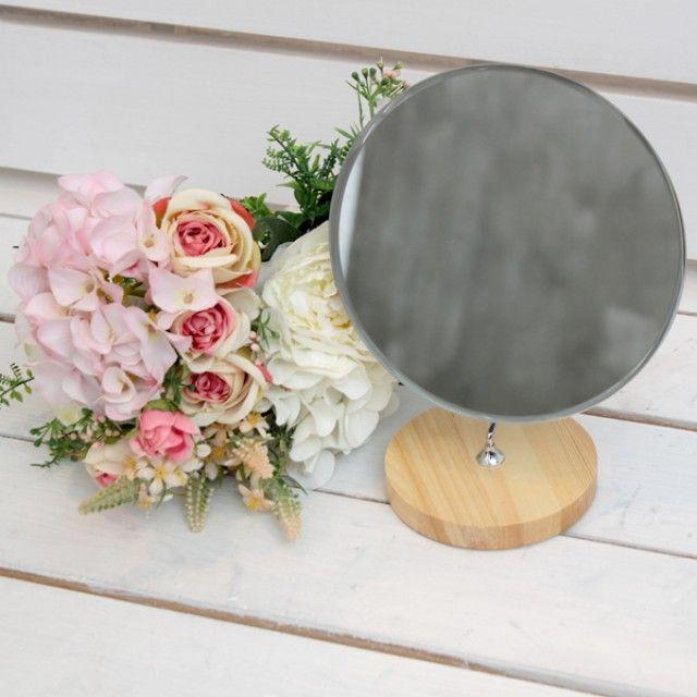 빠띠라인 원형 원목반달 거울 YA [제작 대량 도매 로고 인쇄 레이저 마킹 각인 나염 실크 uv 포장 공장 문의는 네이뽕]
