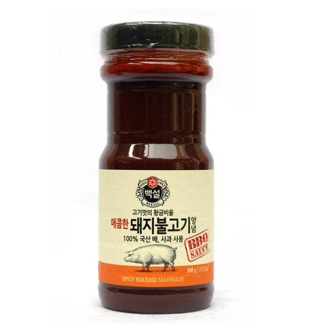 CJ 백설 840g 매운 돼지불고기양념 소스 고기양념