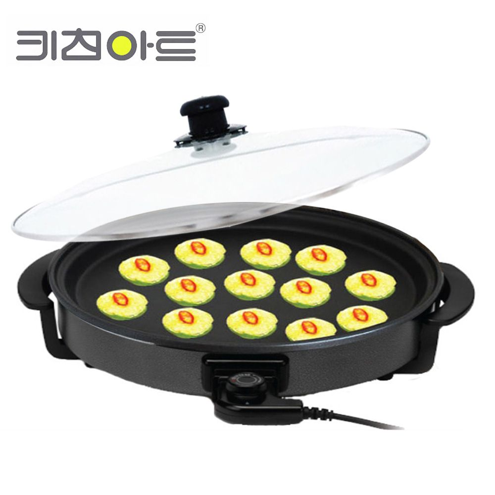 키친아트1401 지짐판 피자팬 전기후라이팬