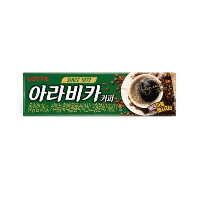 롯데 아라비카 커피 껌 26g 90개 1박스 콜롬비아