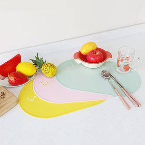 아이티알,MZ 미끄럼방지 스마일식탁매트 실리콘받침대