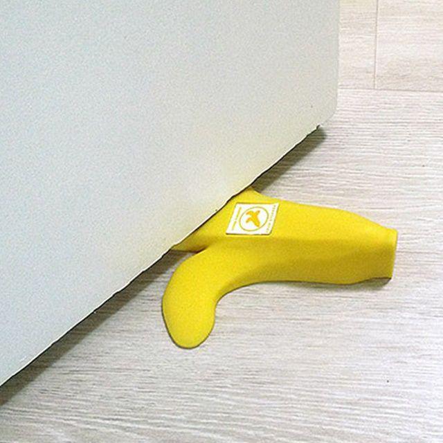 깜찍한 바나나 안전 문닫힘 문쾅 방지 도어 스토퍼