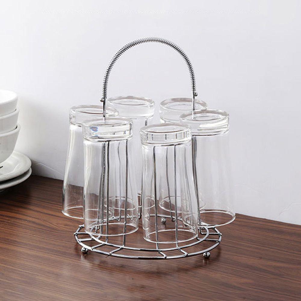 컵걸이 고급스러운 클로브 스텐 컵 걸이 건조대 6구 주방수납 주방컵걸이