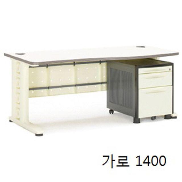 사무실 사무용 직원 업무용 컴퓨터 일자형 책상 1400
