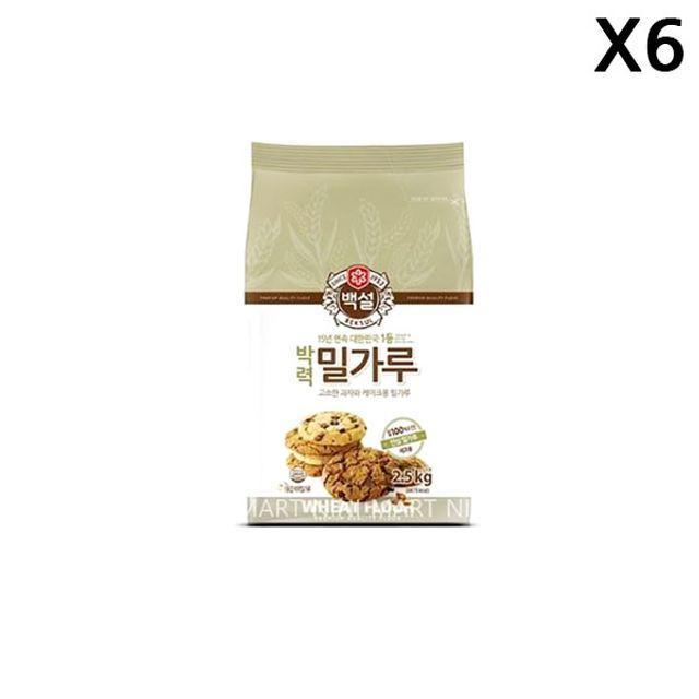 FK 박력 밀가루(백설 2.5K)X6