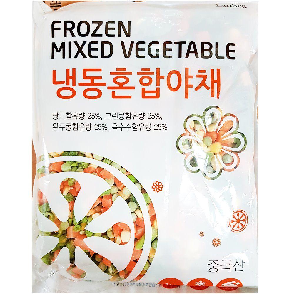 업소용 식당 음식점 식자재 랜시 냉동 혼합 야채 1Kg