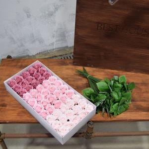 아이티알,NL 인테리어 프리미엄 비누꽃-장미2겹(핑크3색)50구+가지