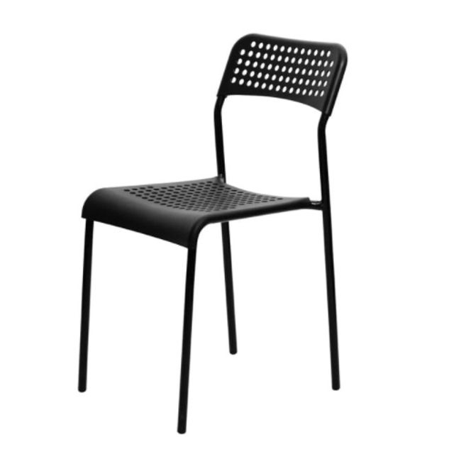 회의실 의자 강당의자 보급형 의자 통풍의자 블랙