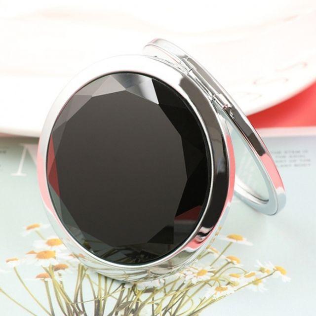 휴대용 크리스탈 양면 손거울 (블랙)