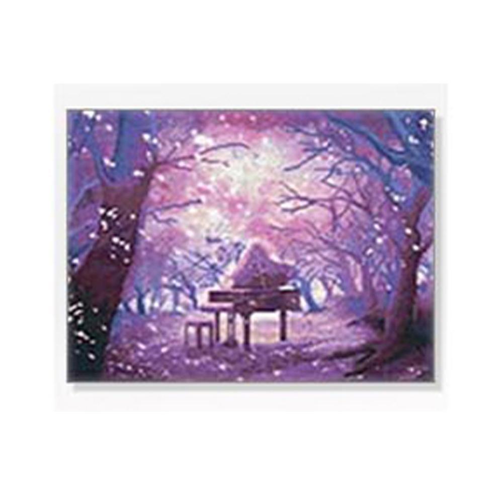 DIY 보석십자수 풍경시리즈 숲속의피아노 40X50