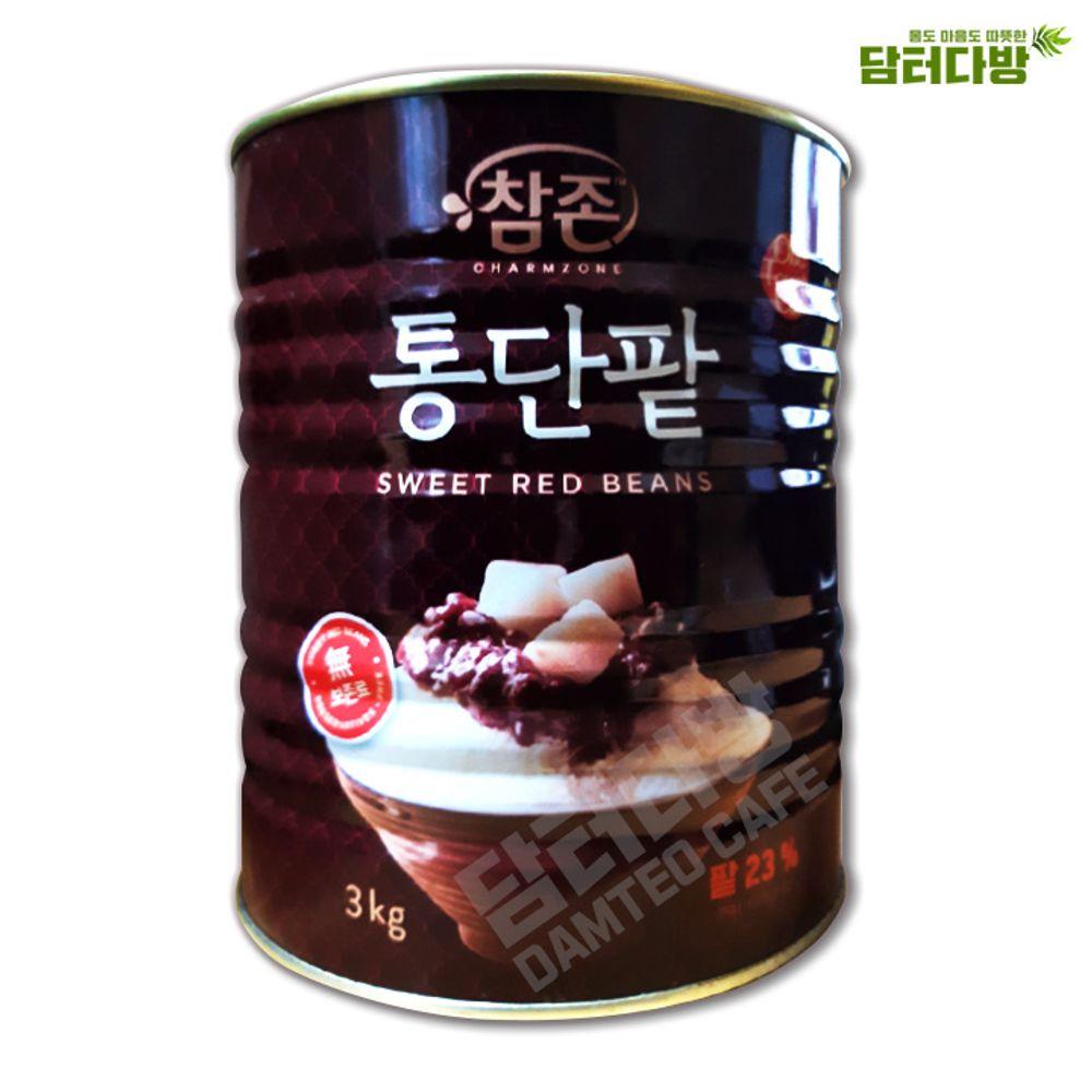 참존식품 통단팥 3kg / 빙수팥 / 빙수재료
