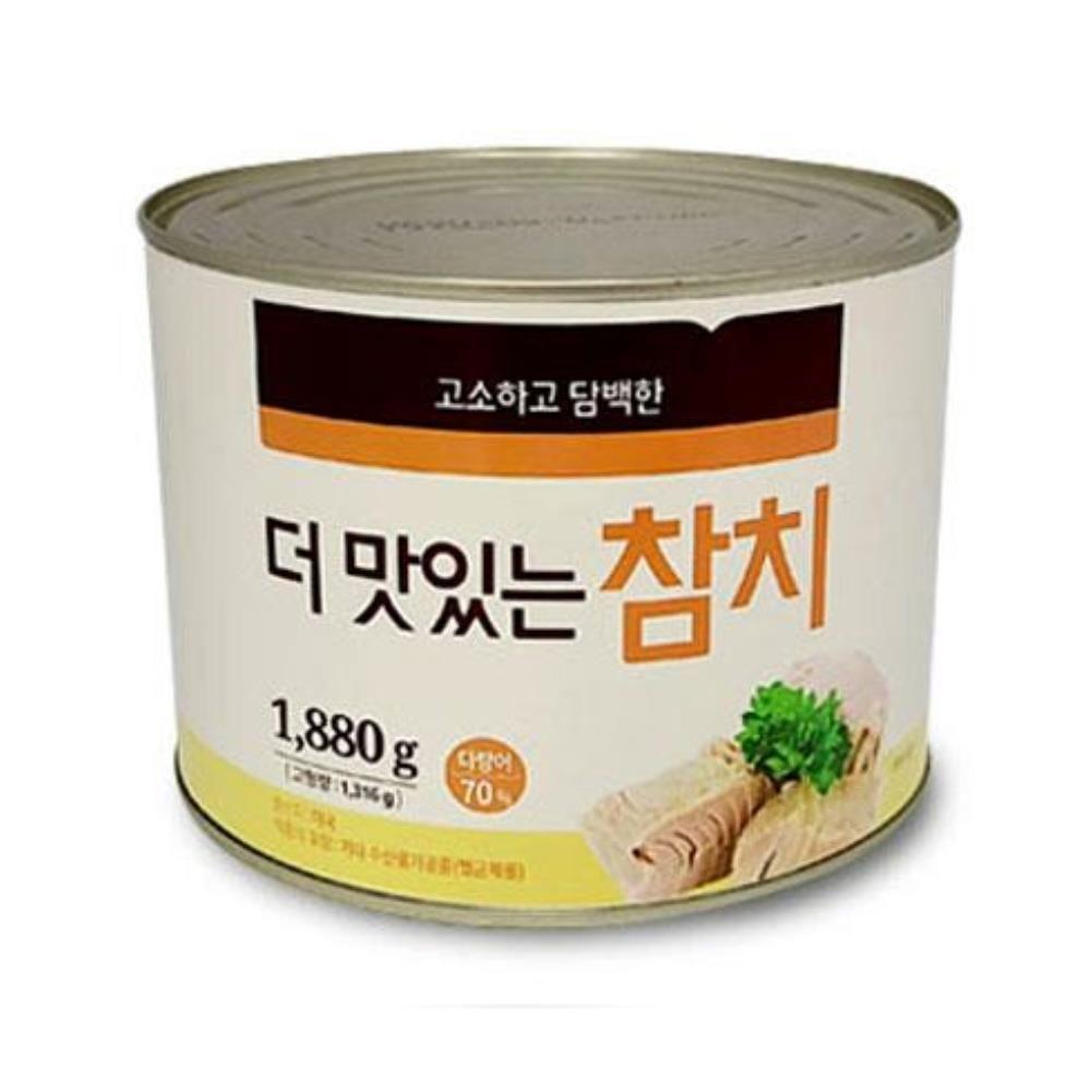 담백한 더 맛있는 참치 1880g 혼밥요리 캠핑용 캔참치