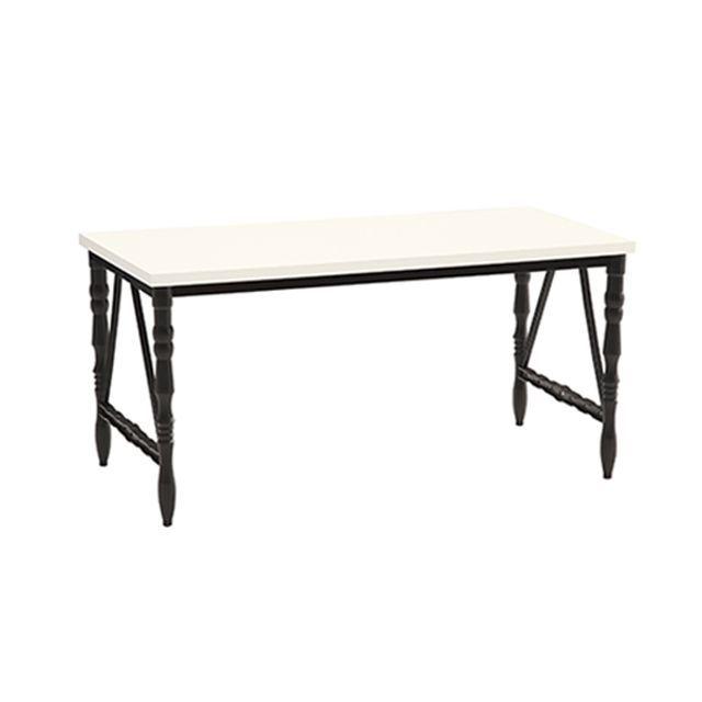 6인 식탁 식당 테이블 화이트 CB1600 사출 다용도