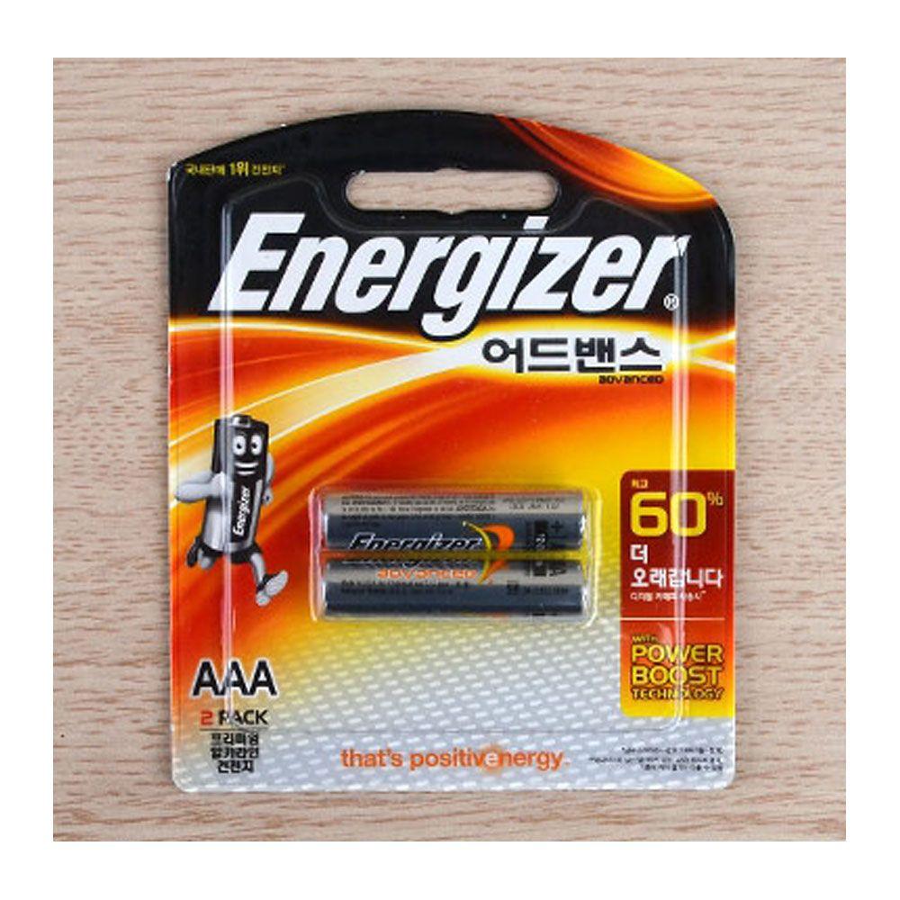 AAA 건전지 에너자이저 어드밴스 고출력 고성능 60%