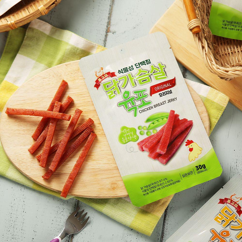 오강푸드 식물성 단백질 닭가슴살 육포 오리지널