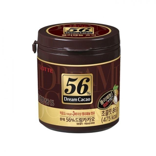 드림카카오 56퍼센트 86g 24개 초콜릿 용기 간식 박
