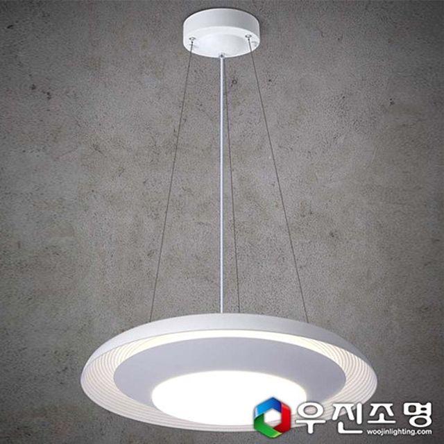 우진조명_ LED 이중 원형 식탁등 30W