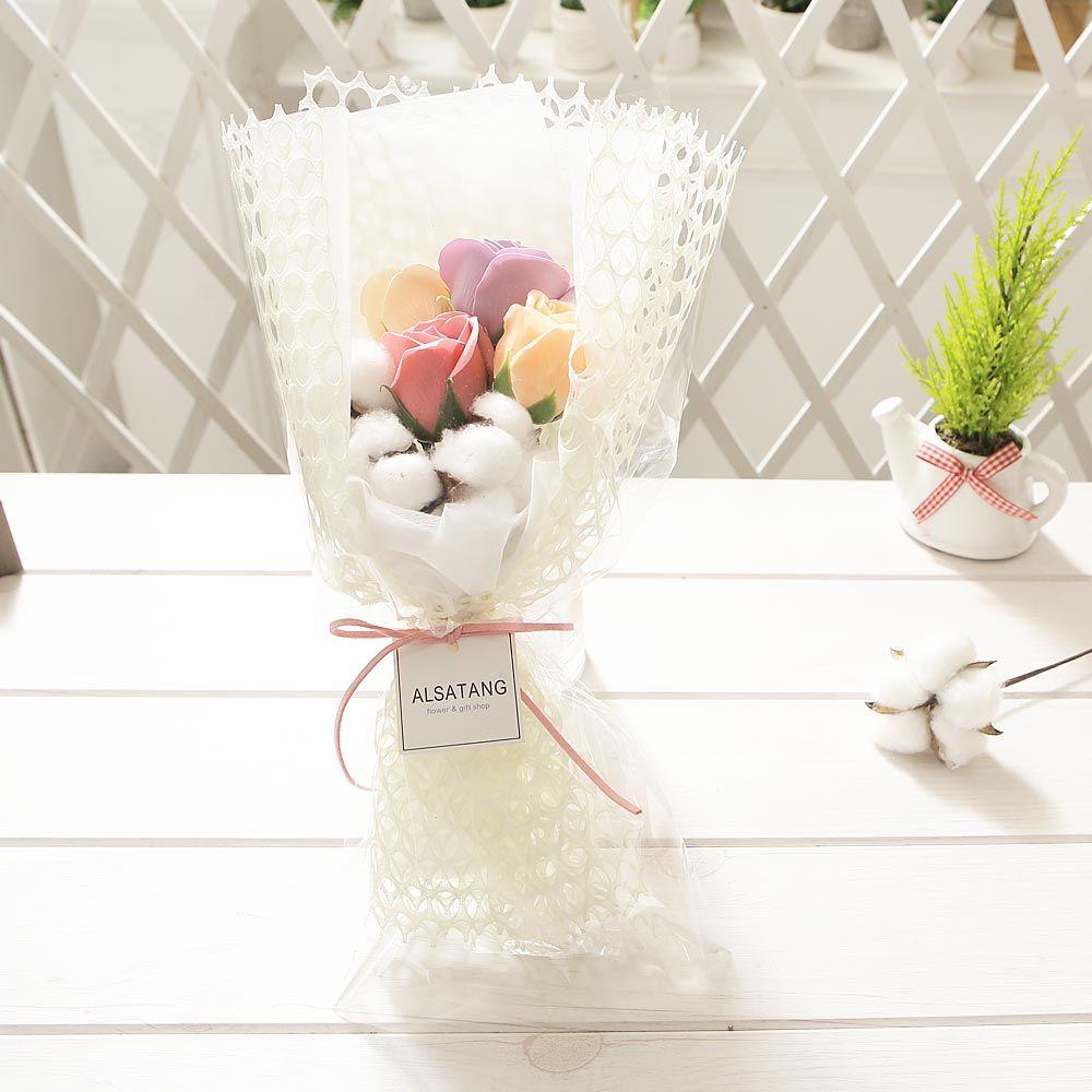코튼 파스텔로즈 꽃다발 로즈데이 성년의날 부부의날