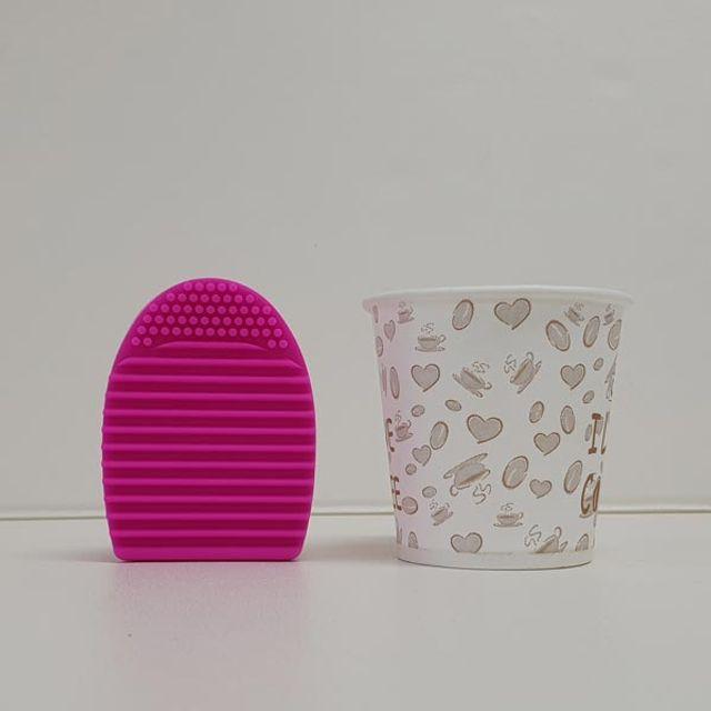 W4B05B2실리콘 브러쉬 세척패드 핑크 클리너 브러쉬건조