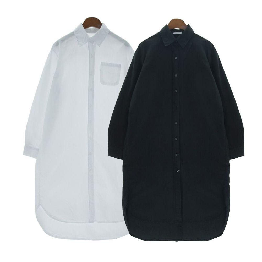 박시한핏 루즈핏 패션 여성용 데일리 롱 셔츠