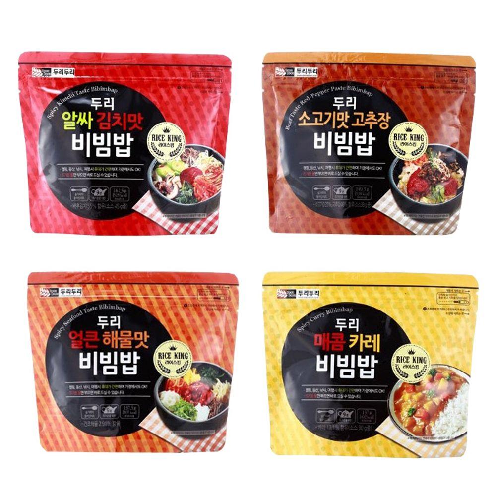 두리두리_ 즉석 비빔밥 4종세트 (총18팩)