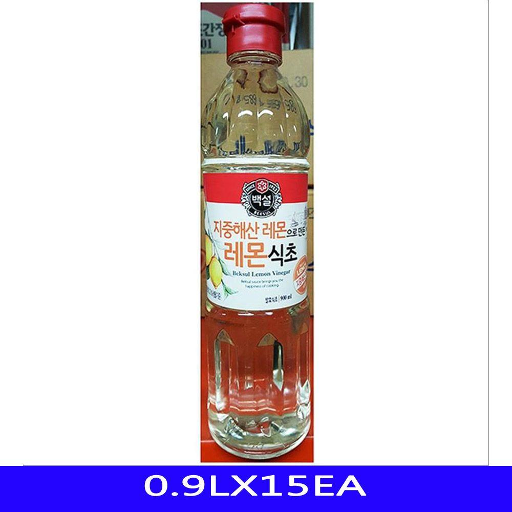발효 레몬 식초 업소용 식자재 CJ제일제당 0.9LX15EA