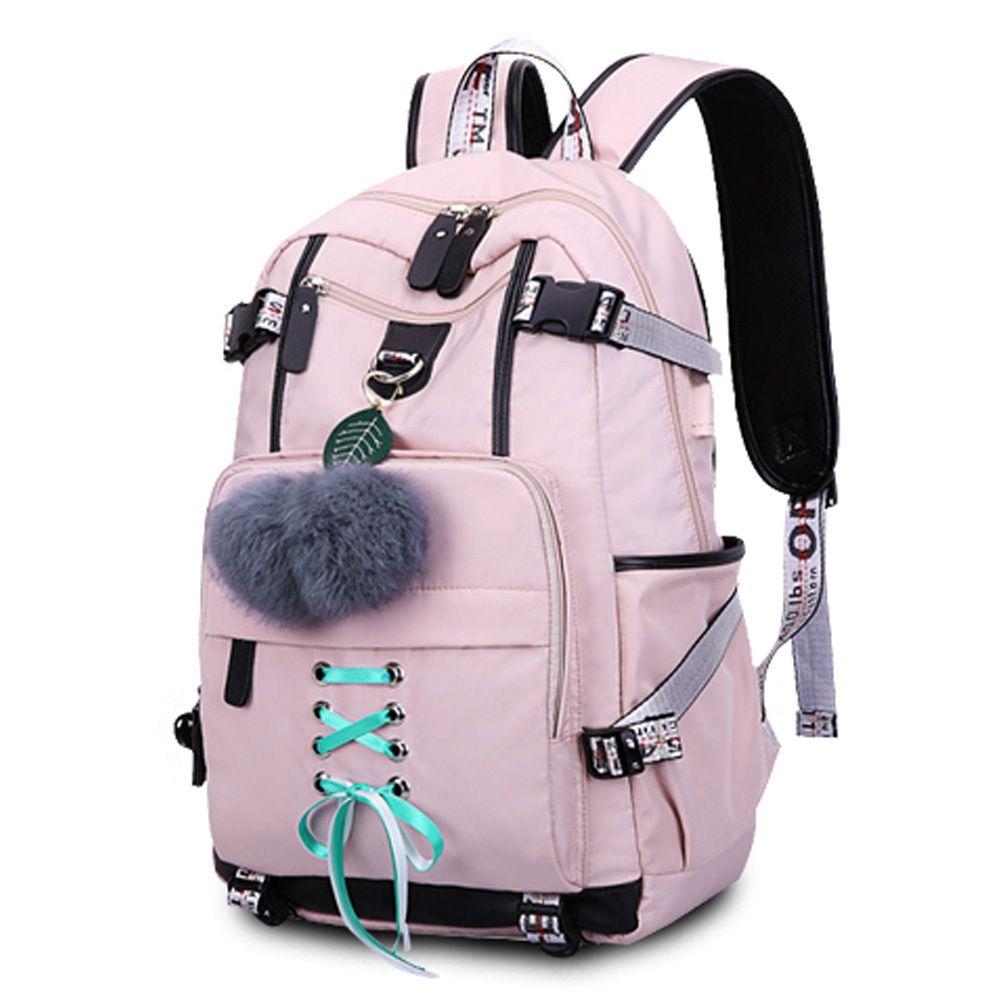 예쁜 핑크 가방 학교 백팩 중학생 고등학생 책가방