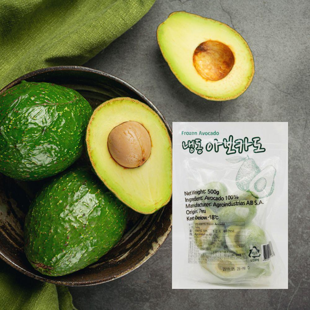 페루산 냉동 아보카도 500g